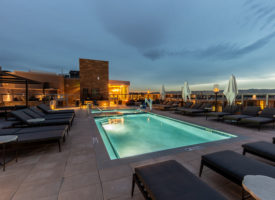 rooftop pool and spa